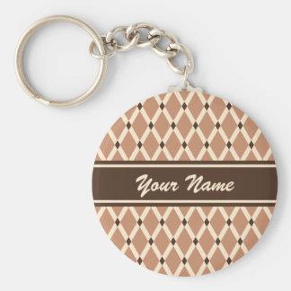 Mocha Diamonds-Almond Frames Keychain