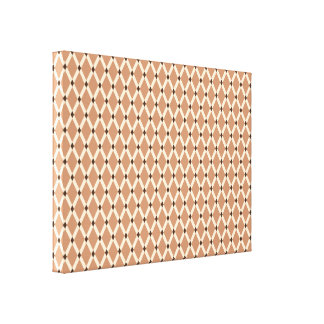 Mocha Diamonds-Almond Frames Wrapped Canvas