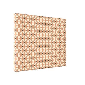 Mocha Diamonds-Almond Frames Wrapped Canvas