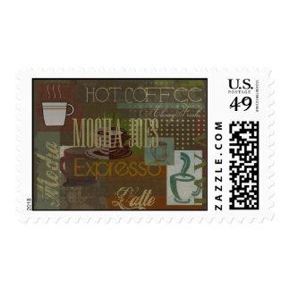 Mocha Joes Cafe Sign Postage Stamp