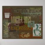 Mocha Joes Cafe Sign Poster