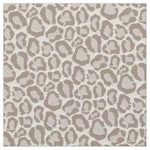Mocha Leopard Animal Print Fabric