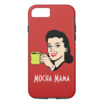 Mocha Mama Vintage Red iPhone 7 Case