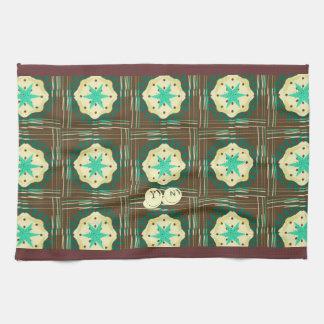Mocha Mint Cream Pie monogram Kitchen Towels