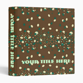 Mocha Mint Sprinkles monogram Binder