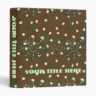 Mocha Mint Sprinkles monogram Vinyl Binders