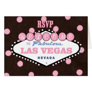 Mocha Pink RSVP Las Vegas Card