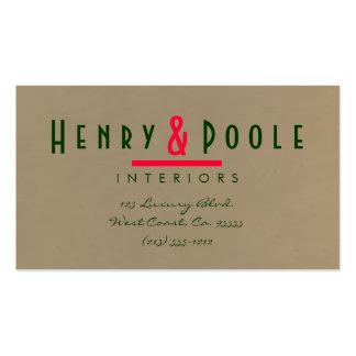 Mocha Plaster Interior Designer Business Card