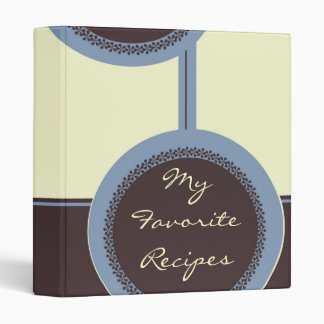Mocha Serene Circles Recipe Book Binder