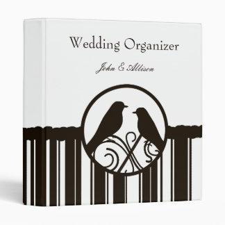 Mocha Stripe Wedding Organizer Binder