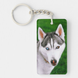 Mocha The Husky Keychain