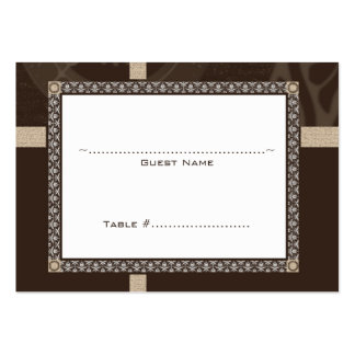 Mocha Time Medallion Wedding Seating Card Large Business Cards (Pack Of 100)