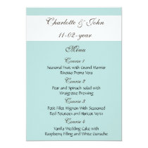 mocha wedding menu card