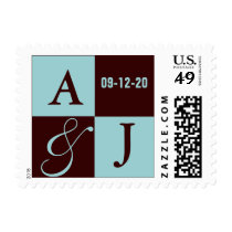 Mocha Wedding Stamps