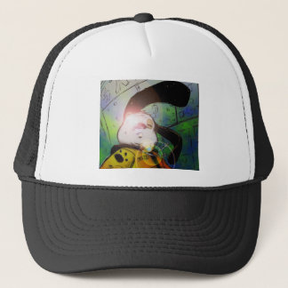 mochi greg collaberation no red trucker hat