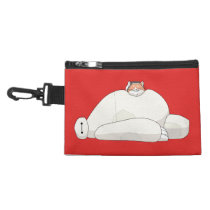 Mochi Laying on Baymax Accessory Bag