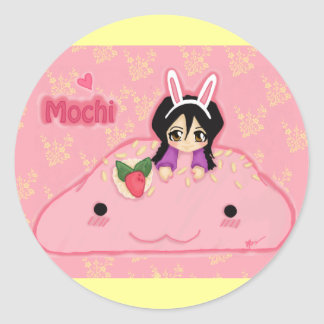 Mochi Love. Print2 Classic Round Sticker
