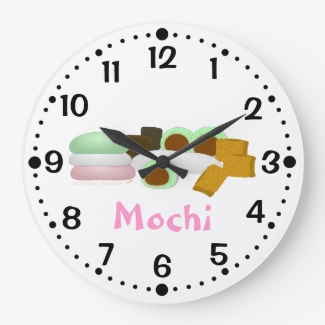 Mochi Lovers Rice Cakes Kitchen Clock w/Minutes