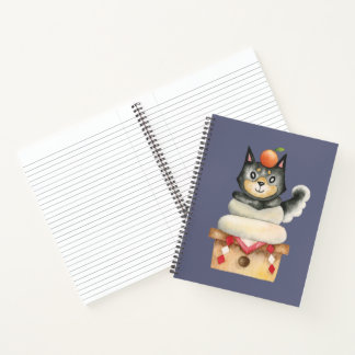 """Mochi Shiba"" Dog Watercolor Illustration Notebook"