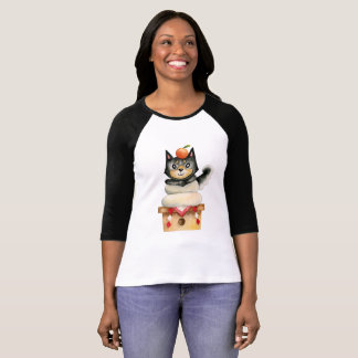 """Mochi Shiba"" Dog Watercolor Illustration T-Shirt"