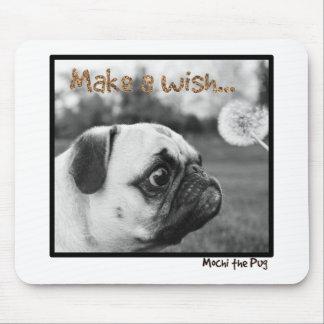 Mochi the Pug Make a Wish Mouse Pad