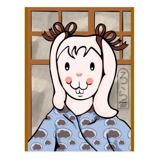 Mochi Year of the Rabbit Girl Postcard