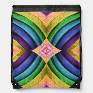 Mochila abstracta geométrica del tono de la joya