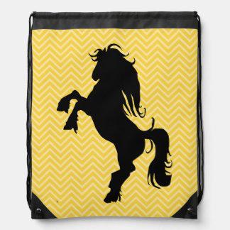 Mochila amarilla elegante del lazo del caballo de