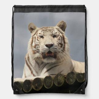 Mochila blanca del tigre