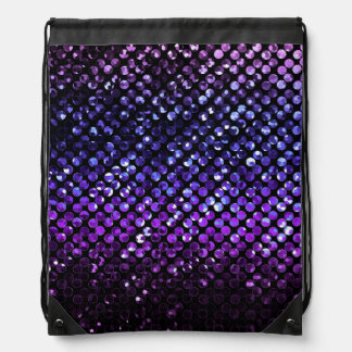 Mochila Bling cristalino púrpura Strass del lazo