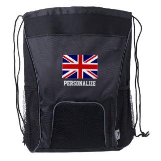 Mochila británica del lazo de los deportes de la mochila de cordón