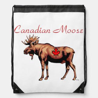 Mochila canadiense del lazo de los alces
