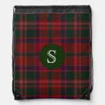 Mochila clásica de la tela escocesa de tartán de S