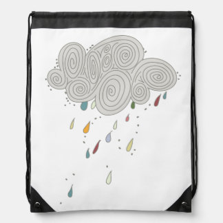 Mochila colorida del lazo de la nube de lluvia