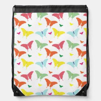 Mochila colorida del lazo de las mariposas