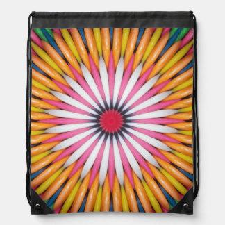 Mochila colorida del lazo del arte de Gumball
