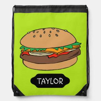 Mochila de encargo del lazo de la hamburguesa