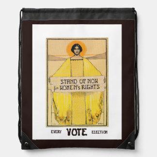 Mochila de las derechas de las mujeres del voto