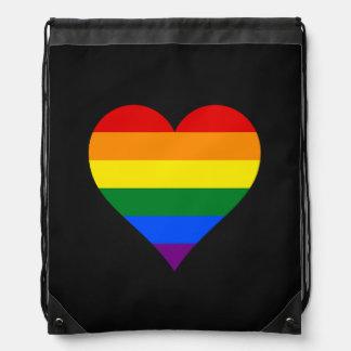 Mochila de los corazones del orgullo de LGBT