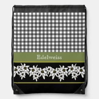 Mochila decorativa del lazo de Edelweiss