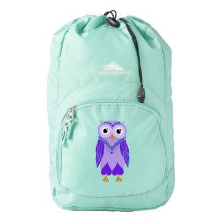 Mochila del búho: Búho púrpura