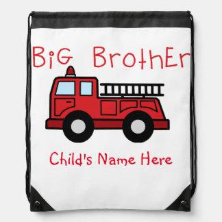 Mochila del coche de bomberos de hermano mayor