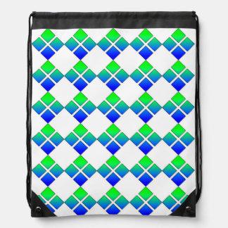 Mochila del diamante del verde azul
