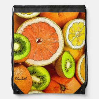 Mochila del kiwi del pomelo de los limones de los