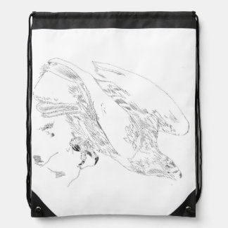 Mochila del lazo con la pluma y tinta de Eagle