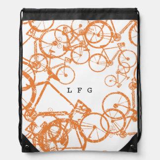 mochila del lazo con las bicis personalizadas
