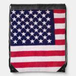 Mochila del lazo de la bandera americana