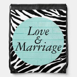 Mochila del lazo del amor y de la boda