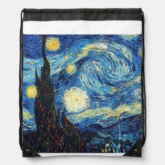 Mochila del lazo del arte de la noche estrellada