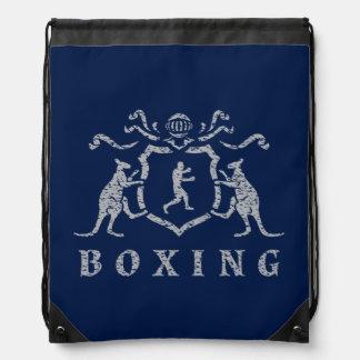 Mochila del lazo del blasón del boxeo